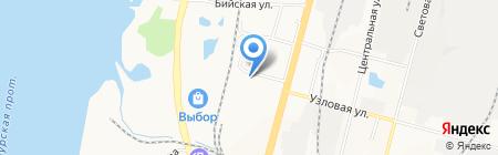 Кристалл на карте Хабаровска