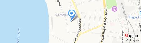 Мастерская на карте Хабаровска
