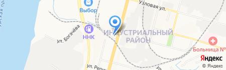 Горошек на карте Хабаровска