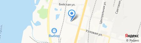 Средняя общеобразовательная школа №87 на карте Хабаровска