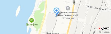 Либхерр-Русланд на карте Хабаровска