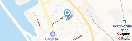 Грамотей на карте Хабаровска