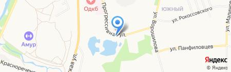 Прогресс-ДВ на карте Хабаровска