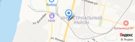 Шиномонтажная мастерская на Краснореченской на карте Хабаровска