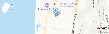 Гараж на карте Хабаровска