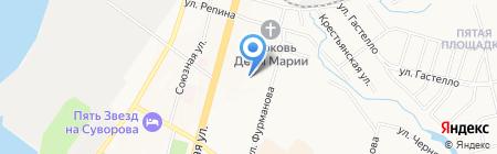 Автостоянка на карте Хабаровска