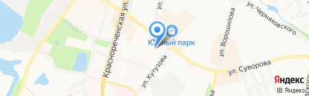 Южный на карте Хабаровска