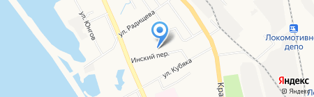 Орсель на карте Хабаровска