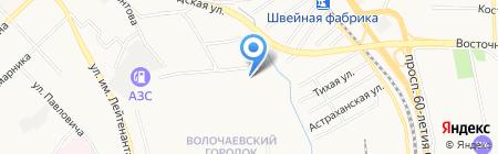 Защитник на карте Хабаровска