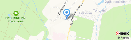 Магазин товаров для животных на Краснодарской на карте Хабаровска
