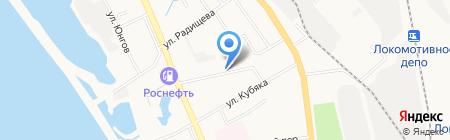Прибрежный на карте Хабаровска