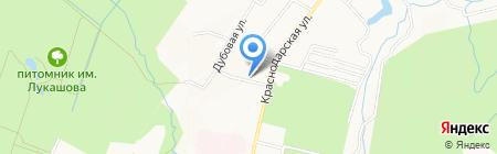Дубки на карте Хабаровска