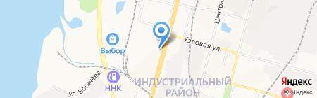 Сархан на карте Хабаровска