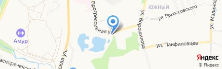 Дальэнерготранс на карте Хабаровска