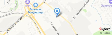 Денсо на карте Хабаровска
