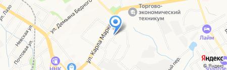 Импульс на карте Хабаровска
