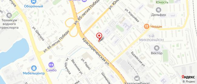 Карта расположения пункта доставки На Калараша в городе Хабаровск