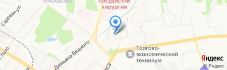 Клинико-диагностический центр на карте Хабаровска