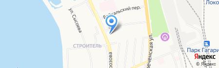 Лэри-Дент на карте Хабаровска
