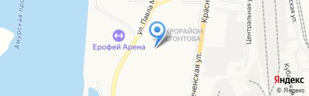 Отдел Ритуальных услуг Ассоциации ветеранов боевых действий органов внутренних дел и внутренних войск на карте Хабаровска