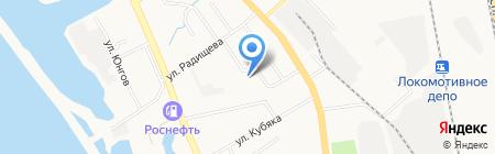 Хабаровский на карте Хабаровска