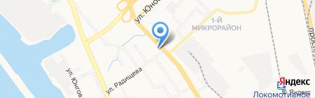 Юничел на карте Хабаровска