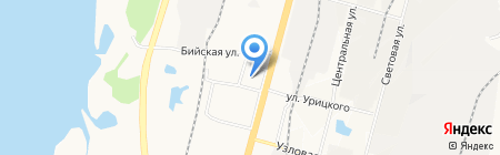 Мустанг-авто на карте Хабаровска