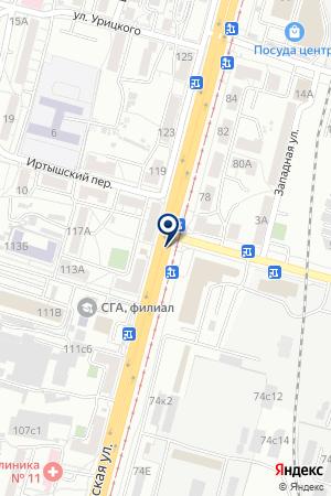 АЗС № 6 ТОРГОВАЯ КОМПАНИЯ ХАБАРОВСКНЕФТЕПРОДУКТ на карте Хабаровска