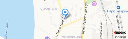 АЗС Роснефть на карте Хабаровска