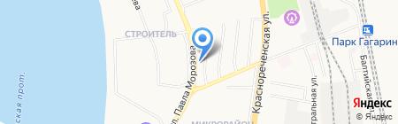 Причал на карте Хабаровска