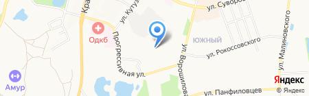 Полина на карте Хабаровска