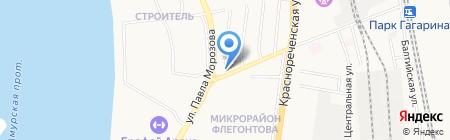 Автогоризонт на карте Хабаровска