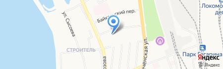 Верботон на карте Хабаровска