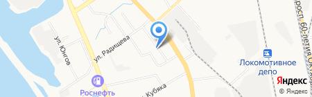 К столу на карте Хабаровска