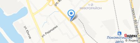 Цветочный салон на карте Хабаровска