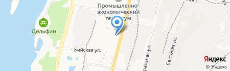 Автостолица на карте Хабаровска