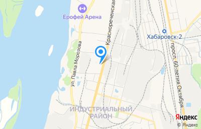 Местоположение на карте пункта техосмотра по адресу г Хабаровск, ул Суворова, д 82А