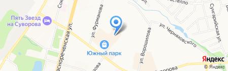 Многофункциональный центр предоставления государственных и муниципальных услуг г. Хабаровска на карте Хабаровска