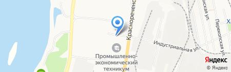 Семейка на карте Хабаровска