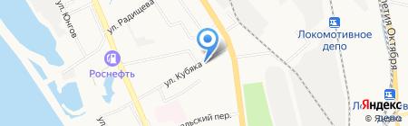 Киоск по продаже хлебобулочных изделий на карте Хабаровска