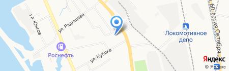 Средняя общеобразовательная школа №62 на карте Хабаровска