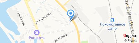 Детская городская поликлиника №17 на карте Хабаровска