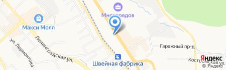 Автозащита на карте Хабаровска
