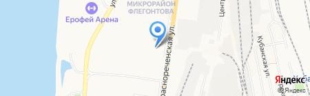 Уссури на карте Хабаровска