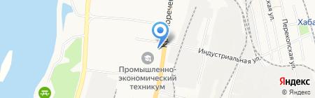 Магазин разливного пива на Краснореческой на карте Хабаровска