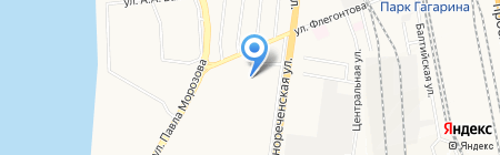 Детский сад №32 на карте Хабаровска