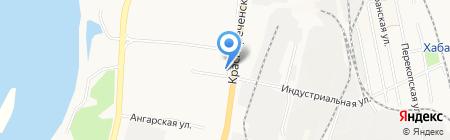 Медальон на карте Хабаровска