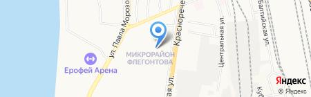 Делон на карте Хабаровска