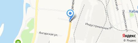 Магазин овощей и фруктов на Краснореченской на карте Хабаровска