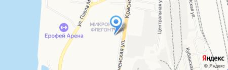 Киоск по продаже фастфудной продукции на карте Хабаровска